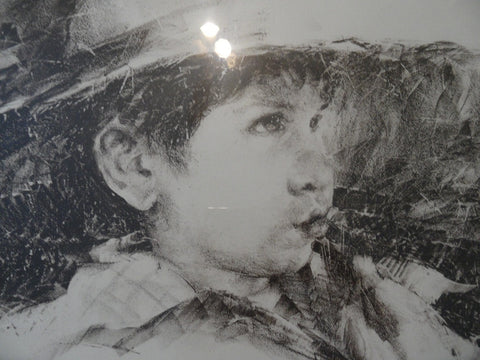 Ramon Kelley (American, b. 1939), Untitled (Boy), pastel on paper, signed and dated 1975