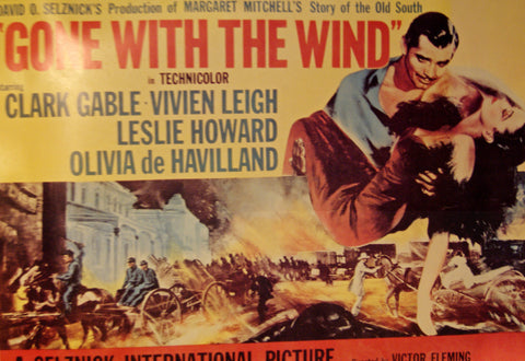 1954 Gone with the Wind Movie Poster, Original
