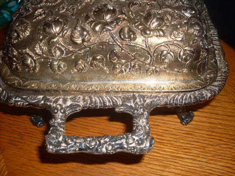 American Silver Footed Covered Two-Handled Casserole, S. Kirk & Son Co., Baltimore, MD, 1903-1924