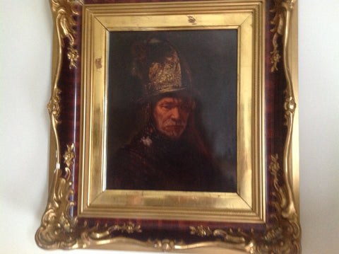 "After Rembrandt van Rijn (Dutch, 1606-1669), Rosenthal Porcelain Plaque of ""Man with the Golden Helmet"", ca. 1900"