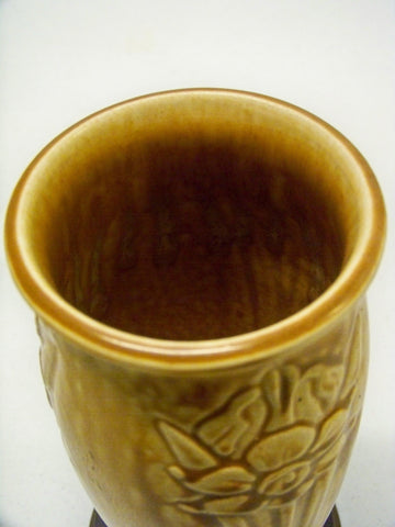 Rookwood Art Pottery Matte Vase, Daffodil Pattern #2476, dated 1927
