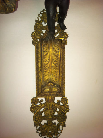 Pair of French Neoclassical Style Wall Sconces, ca. 1895-1910