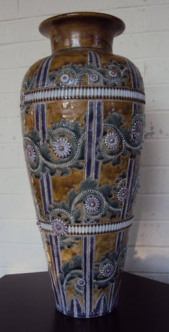 Doulton Lambeth Stoneware Vase, by George Tinworth, dated 1877