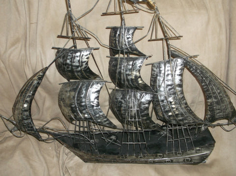 "Silver Plated Model of a Sailing Ship or ""Nef"" Possibly English, late 19th century"