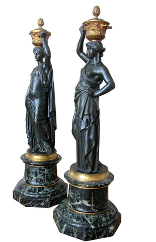Pair of Napoleon III Bronze Classical Figures