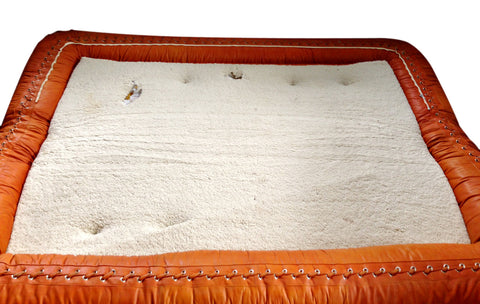 Anfibio Leather Sofabed, designed by Alessandro Becchi for Giovannetti Collezioni in 1971