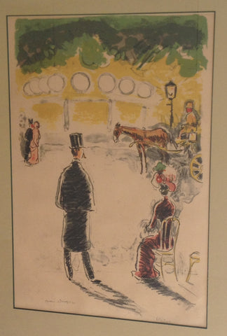 Kees Van Dongen (Dutch, 1877-1968), Le Carrousel et la Fiarce, colored lithograph, 1950, signed and numbered 69/200
