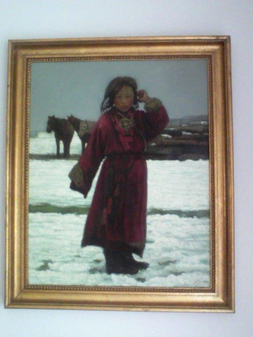 Zheng Zhiyue (Chinese, b. 1957), Tibetan Girl, oil on canvas, signed and dated 1999 lower right