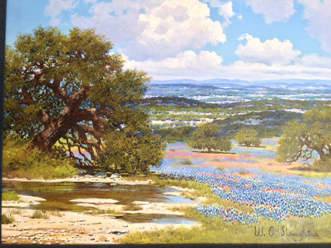 William A. Slaughter (American, 1923-2003), Springtime in the Hill Country, oil on canvas, signed