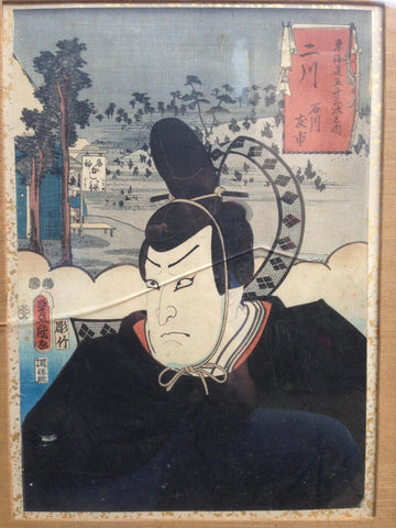 Three Japanese Colored Woodblock Prints, 19th century