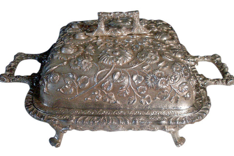 American Silver Footed Covered Two-Handled Casserole