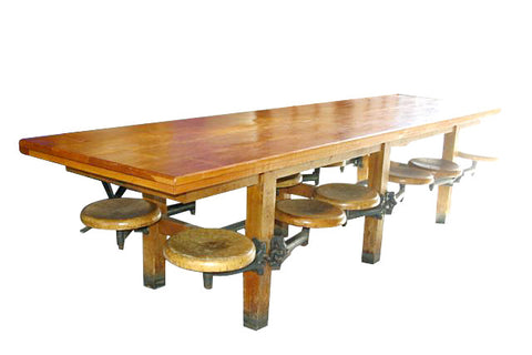 Twelve Swing Seat Cafeteria Table
