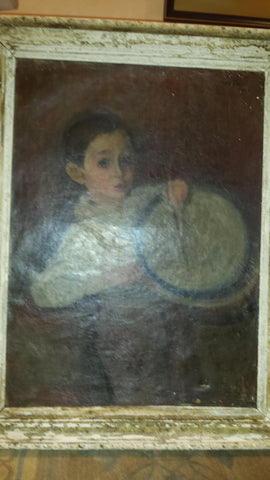 Max Band (American, 1900-1974), Portrait of Little Drummer, oil on canvas, signed and dated 1962