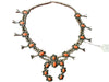 Native American Natural Coral and Silver Squash Blossom Necklace, Navajo, ca. 1950-1960