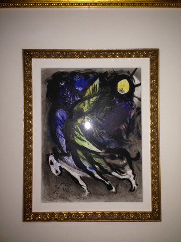 "After Marc Chagall (Russian/French, 1887-1985), ""Angel"", colored lithograph, ca. 1960"
