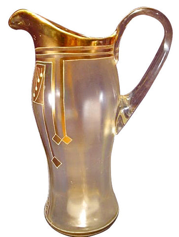 Secessionist Style Glass Pitcher