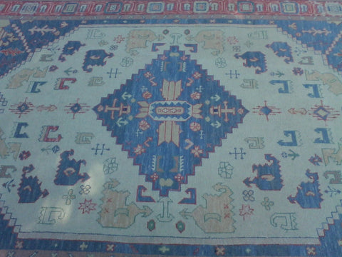 Indian Handwoven Soumak Rug, 4th Quarter 20th Century, wool with vegetable dyes