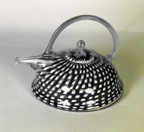 Richard Marquis (American, b. 1945), Teapot, a blown glass and murrine technique sculpture, signed and dated 1981
