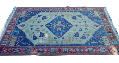 Indian Handwoven Soumak Rug