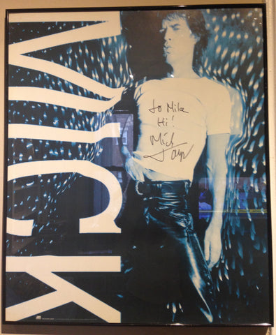 "Rolling Stones Promotional Poster signed by Mick Jagger, publicizing the 1992 release of the album ""For Wandering Spirit"", ca. 1992"