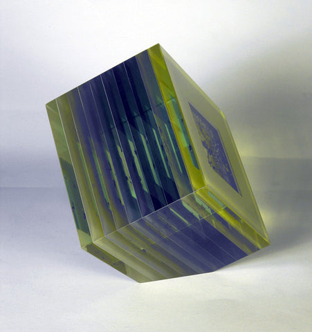 Bohumil Elias (Czech, 1937-2005), Laminated Glass Sculpture, signed, circa 1980s