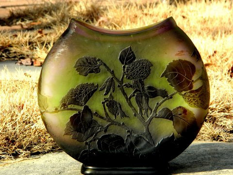 French Art Glass Cameo Vase, Emile Gallé, Nancy, ca. 1910