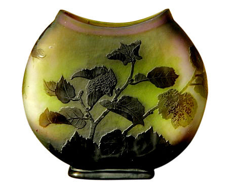 French Art Glass Cameo Vase