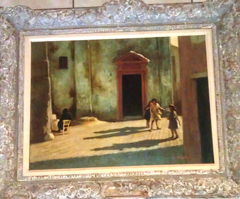 Lucius A. Crowell (American, 1911-1988), A Street in Rome, oil on canvas, signed, mid 20th century