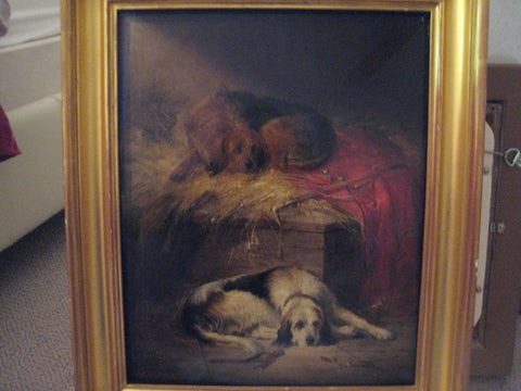 J. H. Sharp (British, flourished 1880 - 1910), Stable Friends at Rest, oil on canvas, signed and dated 1893