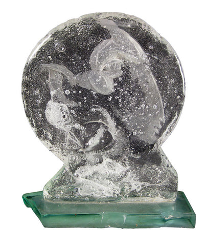 Jiri Harcuba (Czech, 1928-2013), Cast Glass Sculpture, signed, circa 1989