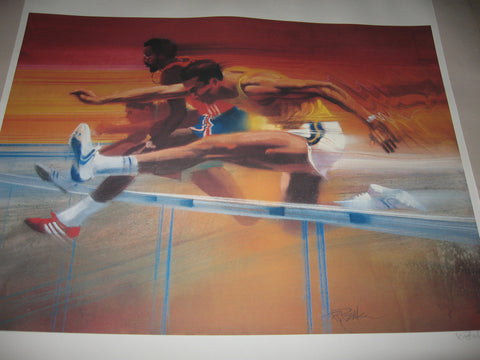 Robert Peak (American, 1927-1992), 10 Lithographs from the 'Visions of Gold Olympic' Portfolio, signed, 1983