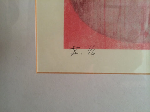Charles Arthur Arnoldi (American, b. 1946), Ellipses, print, signed and dated 2001, numbered 1/6