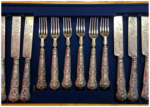 Victorian Silver Fruit Service