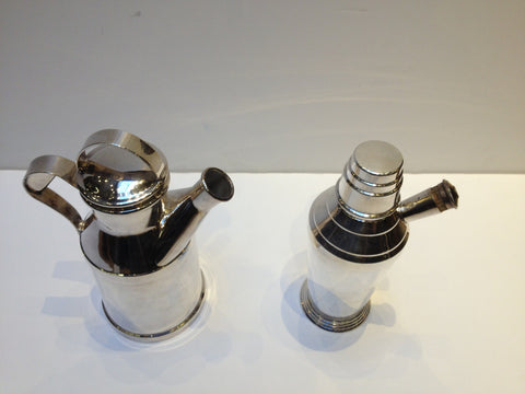Two Silver-Plated Cocktail Shakers, American and English, both 20th century