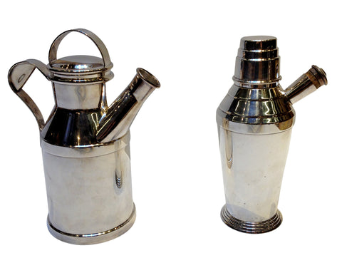 Two Silver-Plated Cocktail Shakers