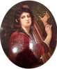 Berlin (K.P.M.) Porcelain Oval Portrait Plaque