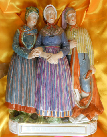 "Royal Copenhagen Porcelain Figural Group, ""Sonderjylland"", designed by Carl Martin-Hansen (1877-1941), 20th century"