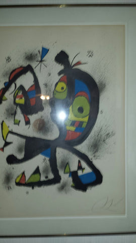 Joan Miró (Spanish, 1893-1983), Obra Grafica (Mourlot 1210), lithograph in colors, 1980, signed and numbered