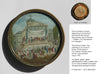 "French Revolutionary Miniature Medallion Painting, ""Citoyen La Patrie Est En Danger"", ca. 1792"