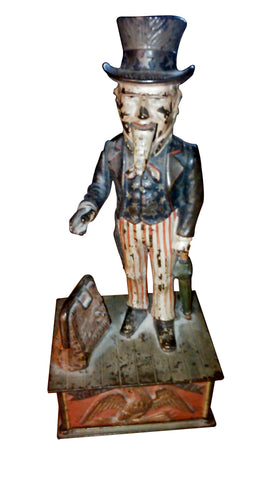 Cast Iron Mechanical Bank of Uncle Sam