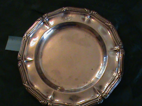 Pair of French Silver Dinner Plates, Maison Odiot, Paris, 1865-1894, .950 standard