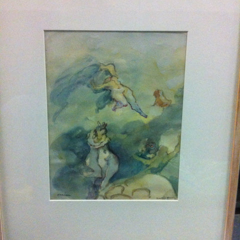 "Dorothea Tanning (American, 1910-2012) ""Heaven"", watercolor on paper, signed"