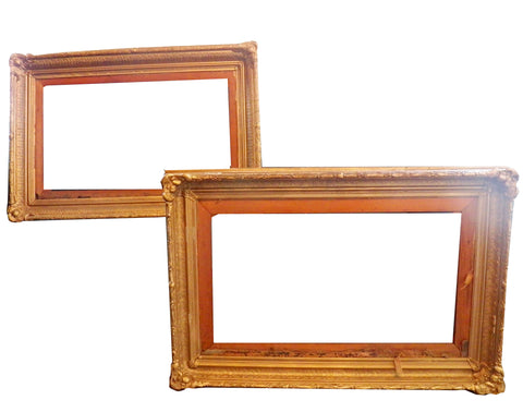 Two Similar Gilt and Gessoed Frames, early 20th century