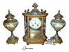 French Brass and Champleve Crystal Regulator