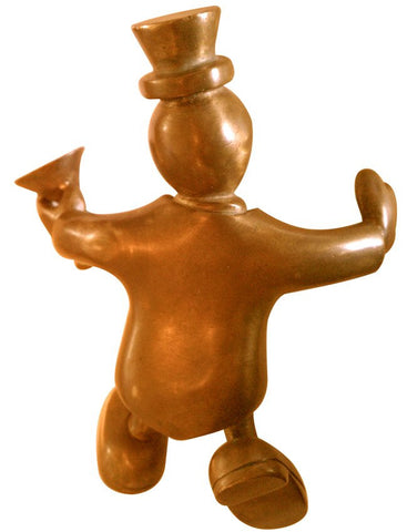 Tom Otterness (American, b. 1952), Bronze Male Figure with Martini Glass, 1994