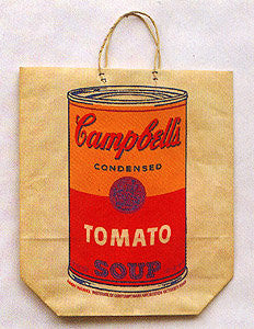 Andy Warhol (American, 1928-1987), Campbell Soup Shopping Bag, screenprint on paper bag, ca. 1960s