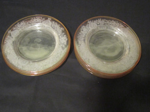 "Set of Steuben Etched Glass Table Ware, 20th century, in the engraved ""Van Dyke"" pattern, signed"
