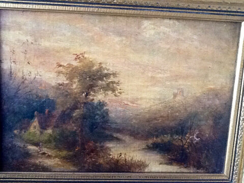 William M. Hart (American, 1823-1894), Country Landscape, oil on canvas, signed, ca. 1840s