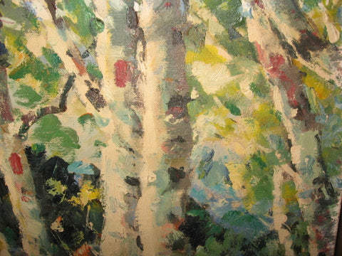 John Nachorny (American, 1908 - 1989), Forest Landscape, oil on canvas, signed and dated 1965