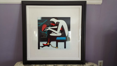 "Mark Kalev Kostabi (American, b. 1960), ""The Pianist"", serigraph, signed and dated 1998, numbered 152/300"